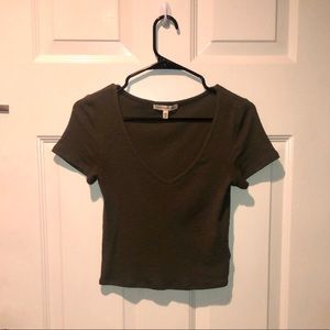 Express Olive Green Tee